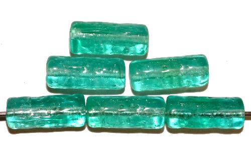 Best.Nr.:48012 Glasperlen Stäbchen  smaragdgrün transp., hergestellt in Gablonz / Tschechien