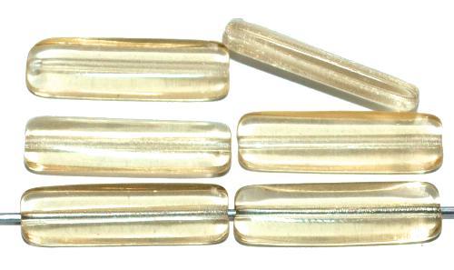 Best.Nr.:48060 Glasperlen Stäbchen, blass gelb transp., hergestellt in Gablonz / Tschechien