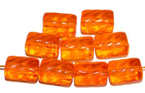 Best.Nr.:48065 Glasperlen Walze  orange transp.,  hergestellt in Gablonz / Tschechien