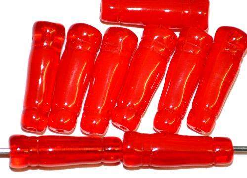 Best.Nr.:48065  Glasperlen Spindel,  rot,  hergestellt in Gablonz / Tschechien