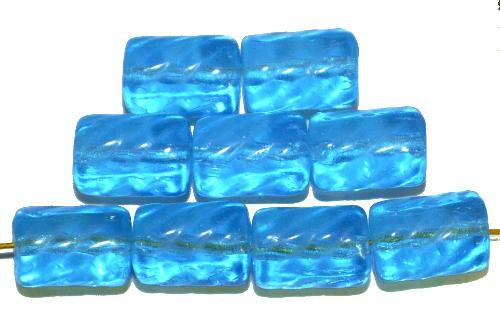 Best.Nr.:48067 Glasperlen Walze  türkisblau transp.,  hergestellt in Gablonz / Tschechien