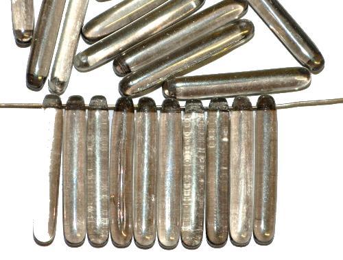 Best.Nr.:48071 Glasperlen Stäbchen blackdiamond transparent, hergestellt in Gablonz / Tschechien