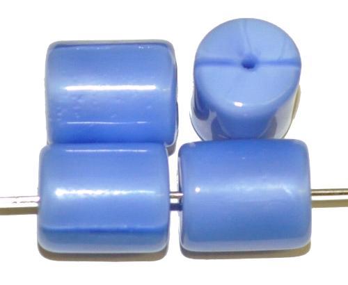 Best.Nr.:48072 Glasperlen Walze  Perlettglas mittelblau,  hergestellt in Gablonz / Tschechien