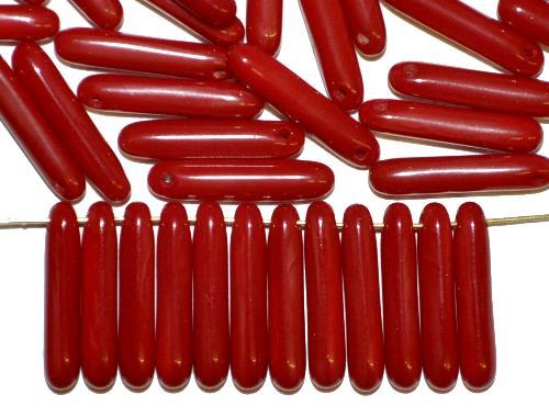 Best.Nr.:48074 Glasperlen Stäbchen  dunkelrot opak,  hergestellt in Gablonz / Tschechien