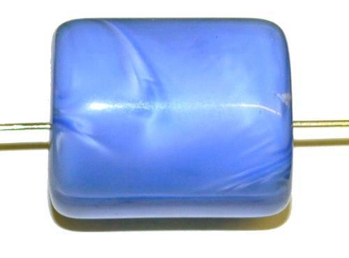 Best.Nr.:48080  Glasperlen Walze  Perlettglas mittelblau,  hergestellt in Gablonz / Tschechien