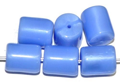 Best.Nr.:48084 Glasperlen Walze  Perlettglas mittelblau,  hergestellt in Gablonz / Tschechien