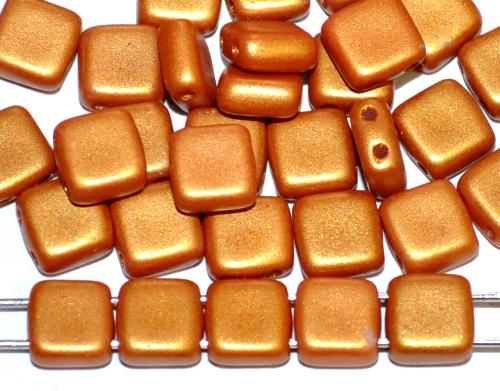 Best.Nr.:49115 Glasperlen mit zwei Löchern, Twin Hole Beads bronze shine matt, hergestellt in Gablonz / Tschechien