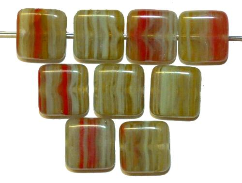 Best.Nr.:49193 Glasperlen Quadrate hergestellt in Gablonz / Tschechien