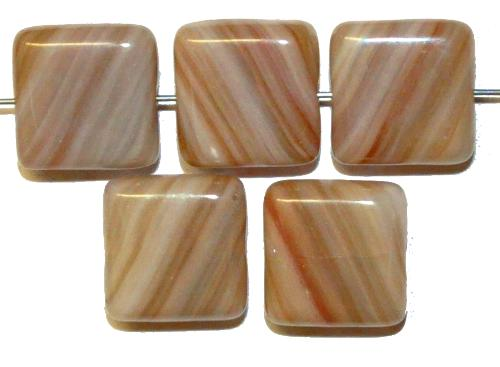 Best.Nr.:49214  Glasperlen Quadrate, hergestellt in Gablonz / Tschechien