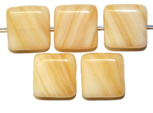 Best.Nr.:49215  Glasperlen Quadrate,  hergestellt in Gablonz / Tschechien