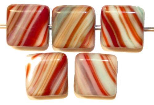 Best.Nr.:49231 Glasperlen Glasperlen Quadrate,  hergestellt in Gablonz / Tschechien