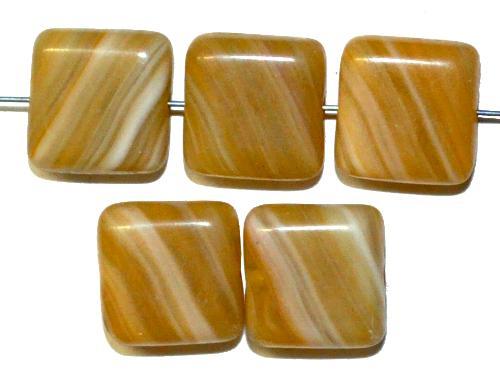 Best.Nr.:49233 Glasperlen Quadrate, hergestellt in Gablonz / Tschechien