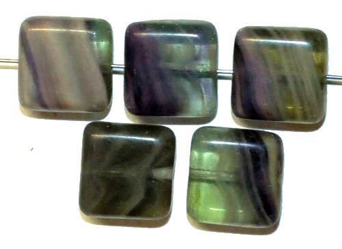 Best.Nr.:49234 Glasperlen Quadrate, hergestellt in Gablonz / Tschechien