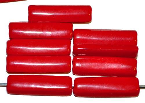 Best.Nr.:49311 Glasperlen Stäbchen,  rot opak,  hergestellt in Gablonz / Tschechien