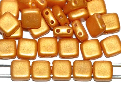 Best.Nr.:49377 Glasperlen mit zwei Löchern, Twin Hole Beads gelb shine matt, hergestellt in Gablonz / Tschechien
