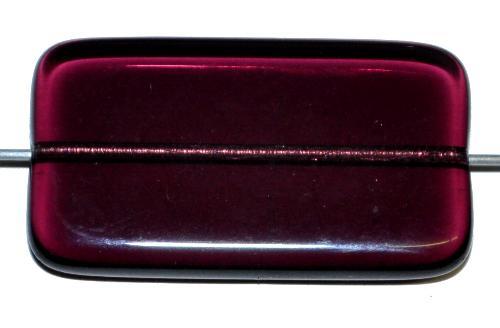 Best.Nr.:49420 Glasperle große flaches Rechteck,  violett transp.,  hergestellt in Gablonz / Tschechien