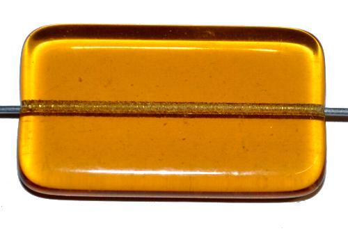 Best.Nr.:49422 Glasperle große flaches Rechteck,  topas transp.,  hergestellt in Gablonz / Tschechien