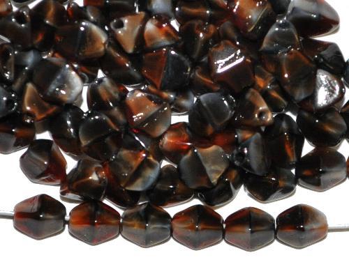 Best.Nr.:49437 Glasperlen Pinchbeads  braunschwarz marmoriert,  hergestellt in Gablonz / Tschechien