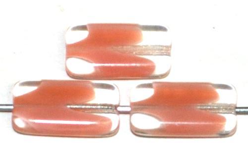 Best.Nr.:49443 Glasperlen Rechtecke, kristall rosa, hergestellt in Gablonz / Tschechien