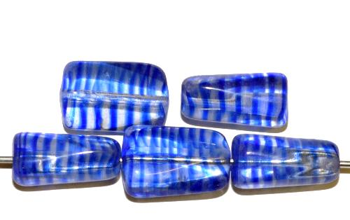 Best.Nr.:49456 Glasperlen kristall blau gestreift transp., hergestellt in Gablonz Tschechien