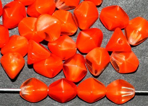 Best.Nr.:49514  Glasperlen Pinchbeads  Dreieckform  orange kristall,  hergestellt in Gablonz / Tschechien