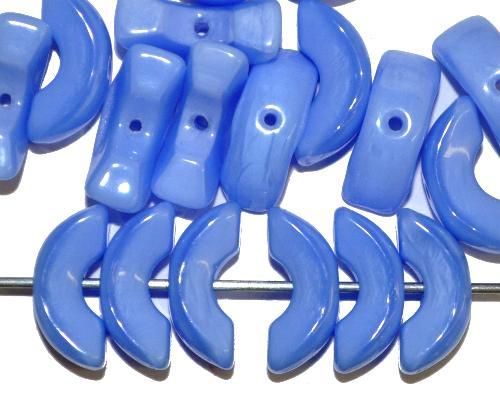 Best.Nr.:57542  Glasperlen mittelblau opak.,  hergestellt in Gablonz / Tschechien