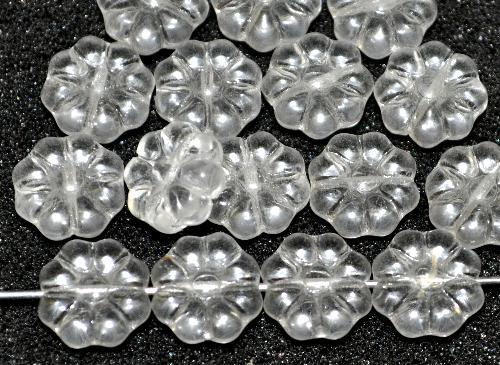 Best.Nr.:50086 Glasperlen Blüten,  kristall,  hergestellt in Gablonz / Tschechien