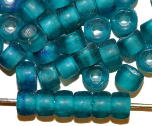 Best.Nr.:52002 Glasperlen türkis mattiert, hergestellt in Gablonz / Tschechien