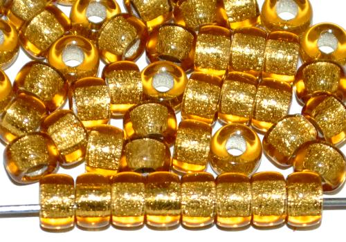 Best.Nr.:52025 Glasperlen topas transparent mit Silbereinzug, hergestellt in Gablonz / Tschechien