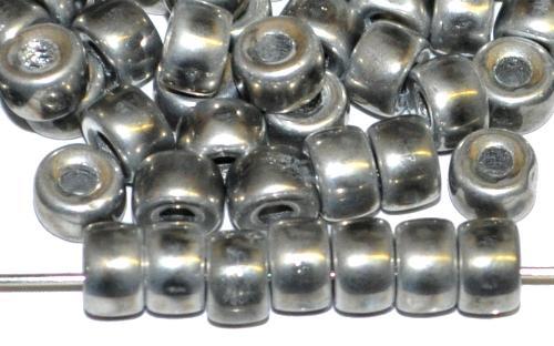 Best.Nr.:52027 Glasperlen silberfarben,  hergestellt in Gablonz / Tschechien