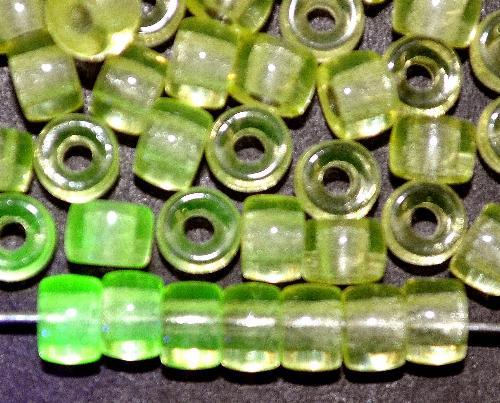 Best.Nr.:52034 Glasperlen neongelb Uranglas,  hergestellt in Gablonz / Tschechien