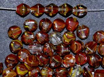 Best.Nr.:54026 Glasperlen Doppelpyramide vierkantig multicolor
