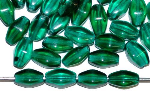 Best.Nr.:54030 Glasperlen Doppelpyramide vierkantig smaragdgrün transp., hergestellt in Gablonz / Tschechien
