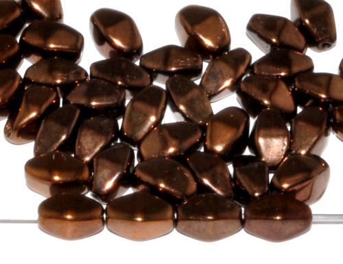 Best.Nr.:54105 Glasperlen Doppelpyramide  metallic bronze,   hergestellt in Gablonz / Tschechien
