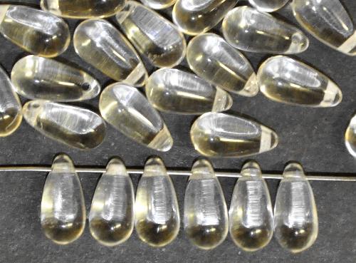 Best.Nr.:55055 Glasperlen Tropfen, kristall, hergestellt in Gablonz / Tschechien,
