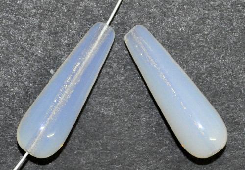 Best.Nr.:55085 Glasperlen / Tropfen milchweiß opal, hergestellt in Gablonz / Tschechien
