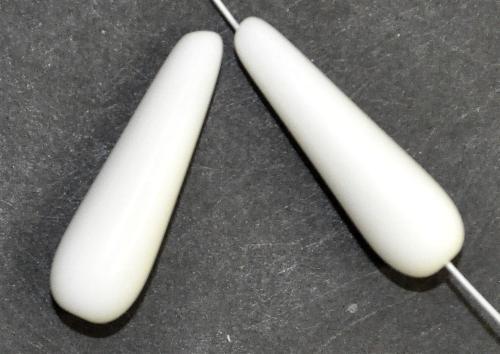 Best.Nr.:55086 Glasperlen / Tropfen  weiß opak,  hergestellt in Gablonz / Tschechien