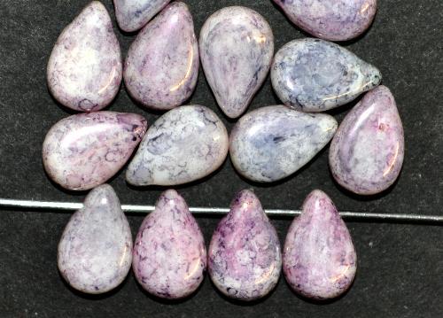 Best.Nr.:55090  Glasperlen Tropfen flach  mit stone finish