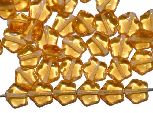 Best.Nr.:56023 Glasperlen Sterne  topas transp., hergestellt in Gablonz / Tschechien