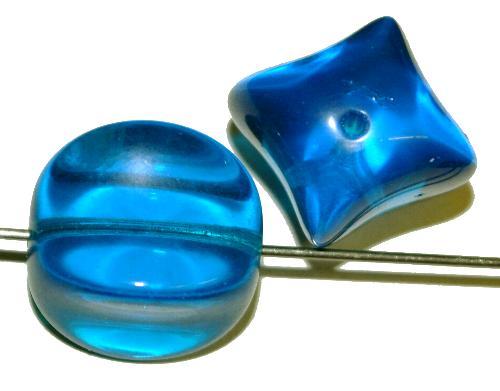 Best.Nr.:57008 Glasperlen,  1950/60 in Gablonz/Böhmen hergestellt,  mittelblau transparent