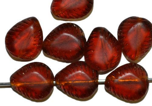 Best.Nr.:57152 Glasperlen Nuggets  topas mattiert ( frostet ),   hergestellt in Gablonz / Tschechien
