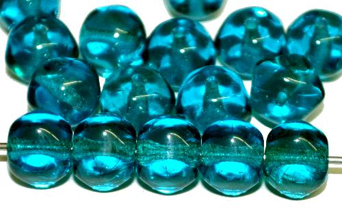 Best.Nr.:57351 Glasperlen Nuggets  montanablau transp., hergestellt in Gablonz Tschechien
