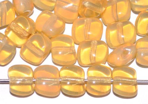 Best.Nr.:57365 Glasperlen Nuggets,  Opalglas beige,  hergestellt in Gablonz / Tschechien