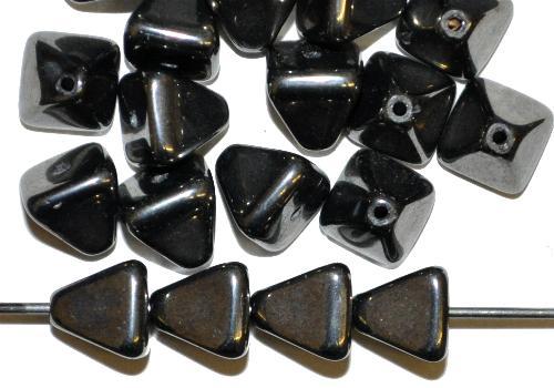 Best.Nr.:57416 Glasperlen Pyramide schwarz mit lüster, hergestellt in Gablonz / Tschechien