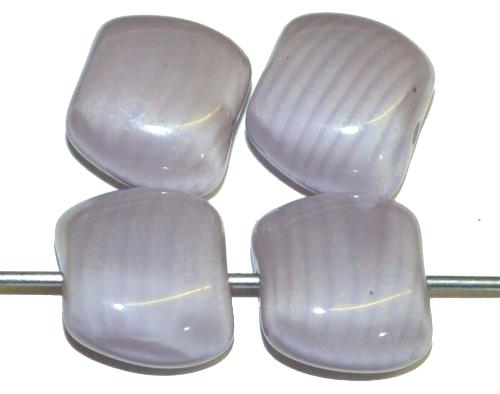 Best.Nr.:57542 Glasperlen Nuggets Perlettglas blass malve, hergestellt in Gablonz / Tschechien