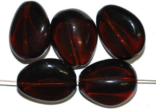 Best.Nr.:57555 Glasperlen Nuggets  topas dunkel transp.,  hergestellt in Gablonz / Tschechien
