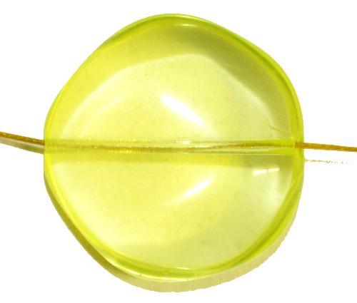 Best.Nr.:57612 Glasperle Nugget  uranium,  hergestellt in Gablonz / Tschechien