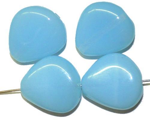 Best.Nr.:57615 Glasperlen Nuggets  Opalglas hellblau,  hergestellt in Gablonz / Tschechien