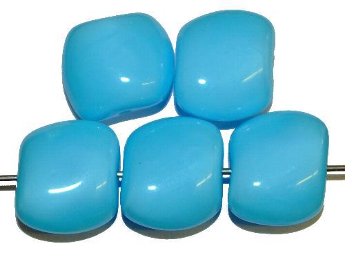 Best.Nr.:57630 Glasperlen Nuggets  hellblau opak  hergestellt in Gablonz / Tschechien