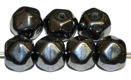 Best.Nr.:57634 Glasperlen mit hämatit finish,  hergestellt in Gablonz / Tschechien